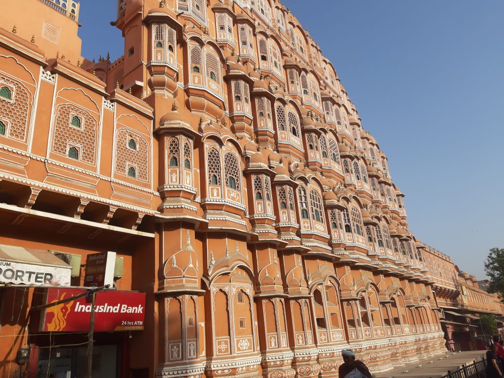 In India - Hawa Mahal, windpaleis