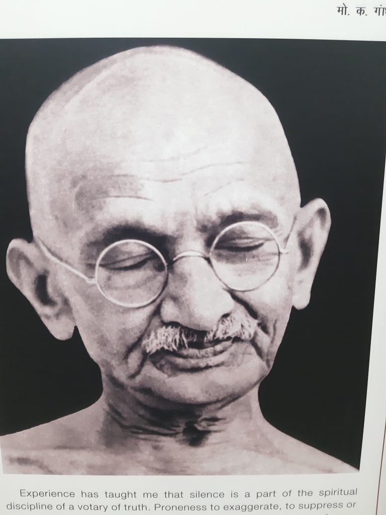 In India - Mahatma Gandhi